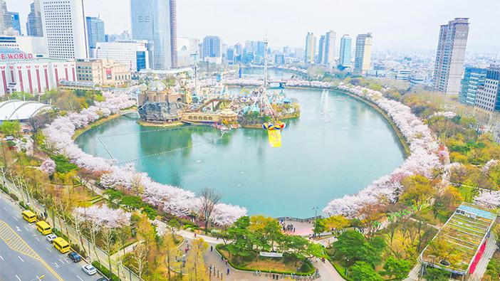 Hồ Seokchonhosumột cảnh trong truyện cổ tích