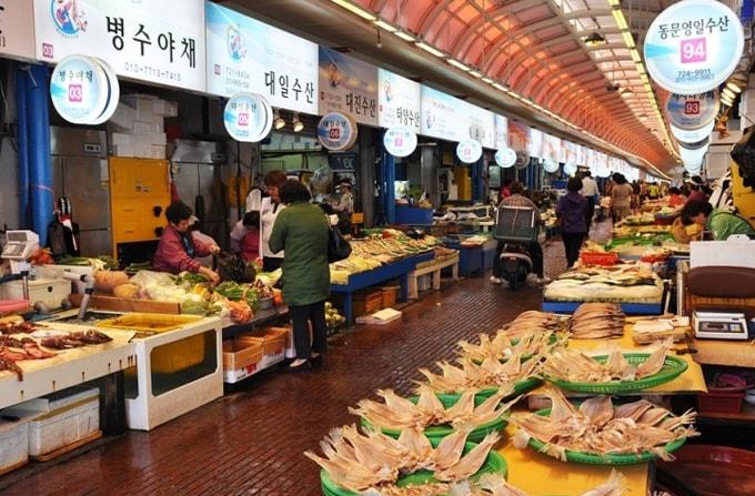 Chợ Dongmun Hàn Quốc