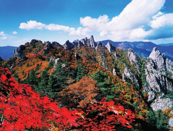 Seoraksan vào mùa thu Hàn Quốc