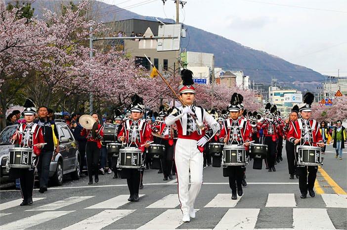 Điểm nổi bật của Lễ hội Jinhae Gunghangje