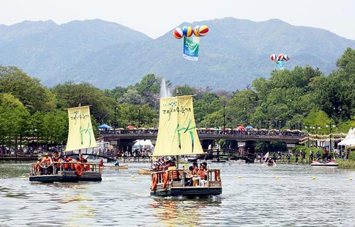 Lễ hội tre Damyang mùa xuân
