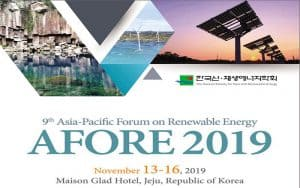 Diễn đàn châu Á-Thái Bình Dương lần thứ 9 về năng lượng tái tạo (AFORE 2019)
