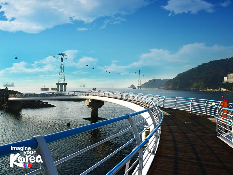 Từ độ cao 86m của cáp treo Busan Air Cruise du khách sẽ có cơ hội được chiêm ngưỡng rất nhiều cây cầu đẹp của Busan như Yeongdo, Namhang, Gwangan...