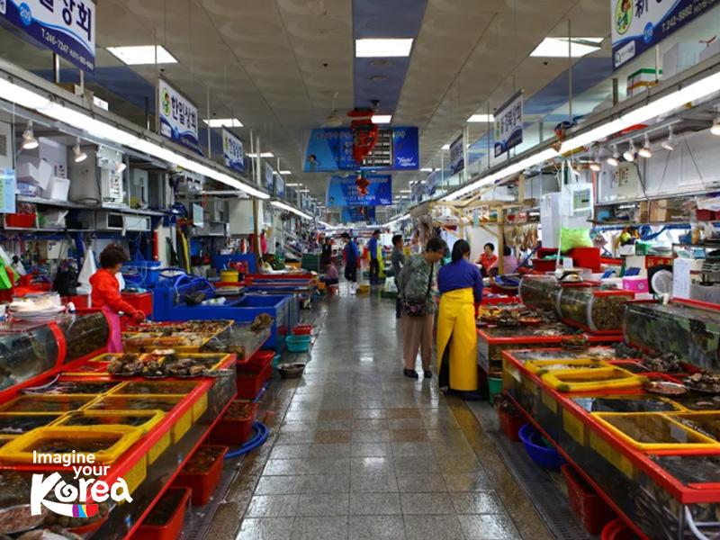 Nếu muốn thưởng thức những món hải sản tươi rói vừa mới đánh bắt ở biển lên thì chợ Jagalchi chắc chắn là địa điểm mà bạn không nên bỏ lỡ.