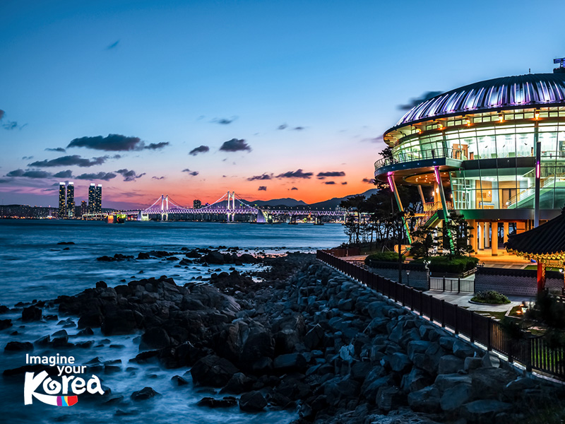 Trung tâm hội nghị Nurimaru APEC House là biểu tượng của hòn đảo Dongbaek