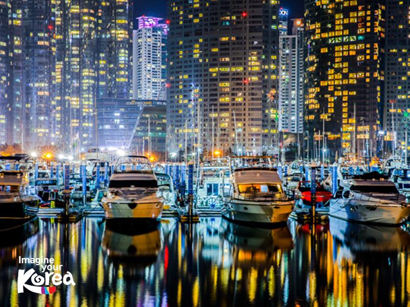 Tham gia tour du thuyền kéo dài trong 1 giờ, du khách sẽ có cơ hội chiêm ngưỡng và khám phá những địa danh đáng nhớ của Busan như: Marine City, đảo Dongbaek, bãi biển Haeundae, cầu Gwangan...
