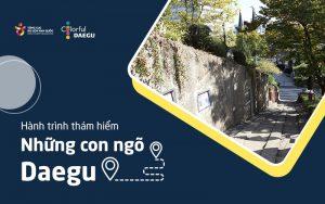 Lịch sử, văn hóa, không gian ẩn chứa những câu chuyện, tạo nên Tour dạo phố tại Daegu